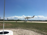 Rocky landing Skydive San Pedro's Cessna at the 2017 Fly In at Spanish Lookout Belize